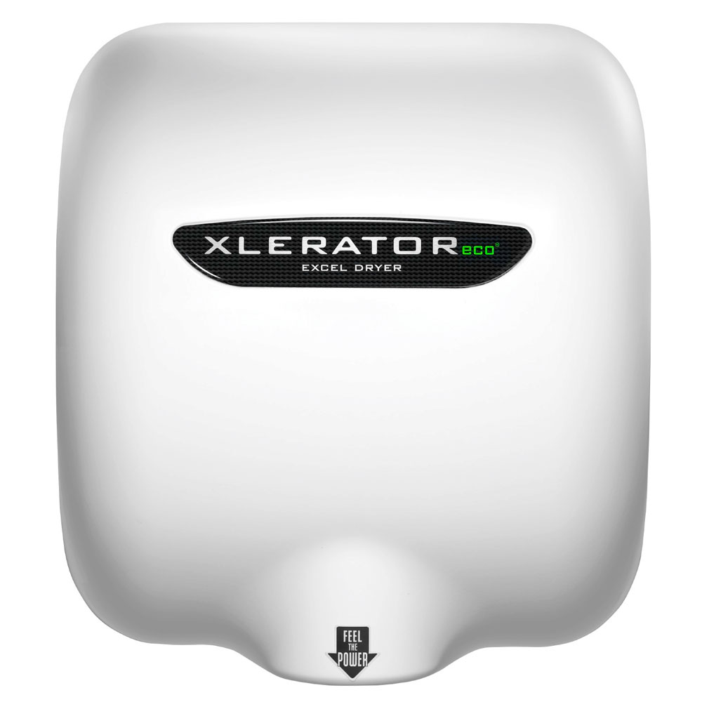 Excel Dryer XL-W-ECO Automatic Hand Dryer w/ 12-sec Dry Time - White, 110-120v