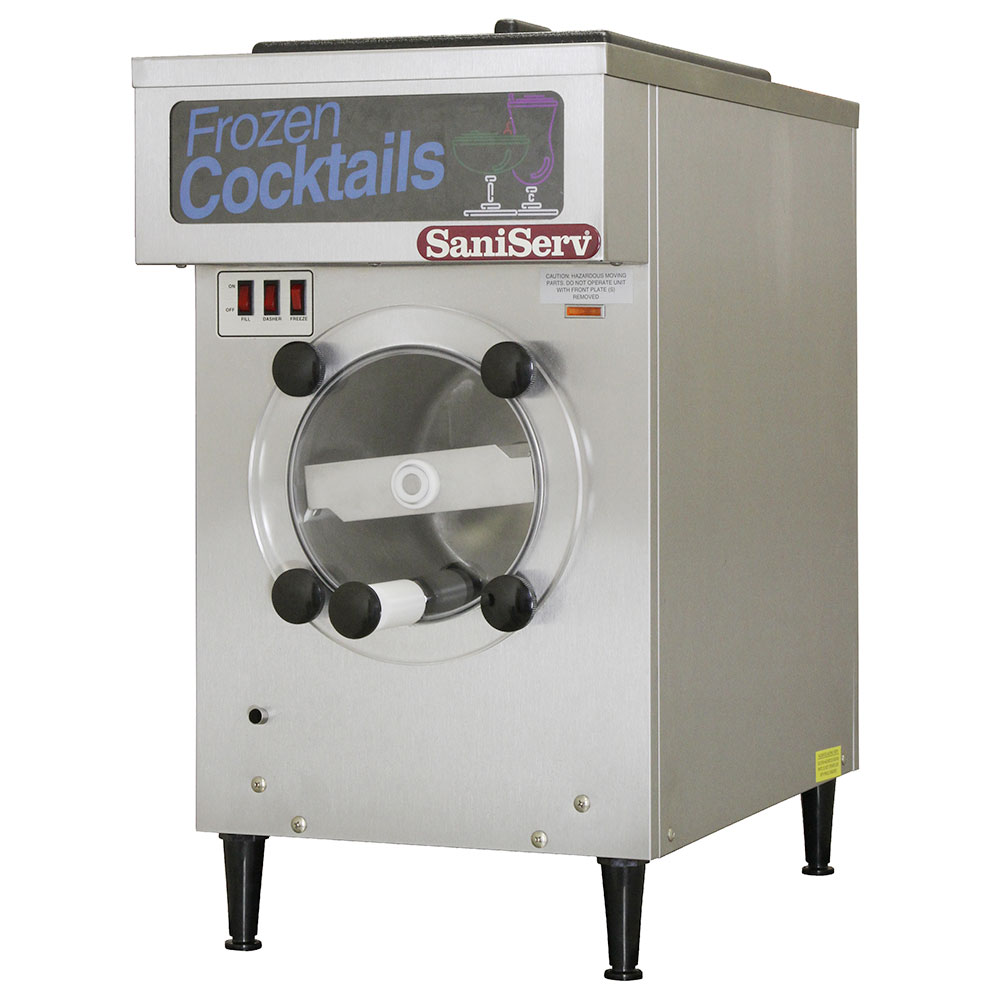 Saniserv 108R Frozen Cocktail Beverage Freezer, 16-Gal/Hr, 25-qt, Remote