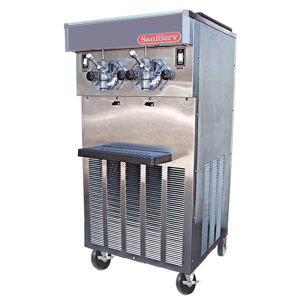 Saniserv 424-SERVE Soft Serve/Yogurt Freezer, 2-Heads, (2) 2-HP, 208-230V/60/3 V