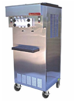 Saniserv 521-SOFTSERVE Soft Serve/Yogurt Twist Freezer, 2-Heads, (2) 1-HP, 208-230/60/1 V