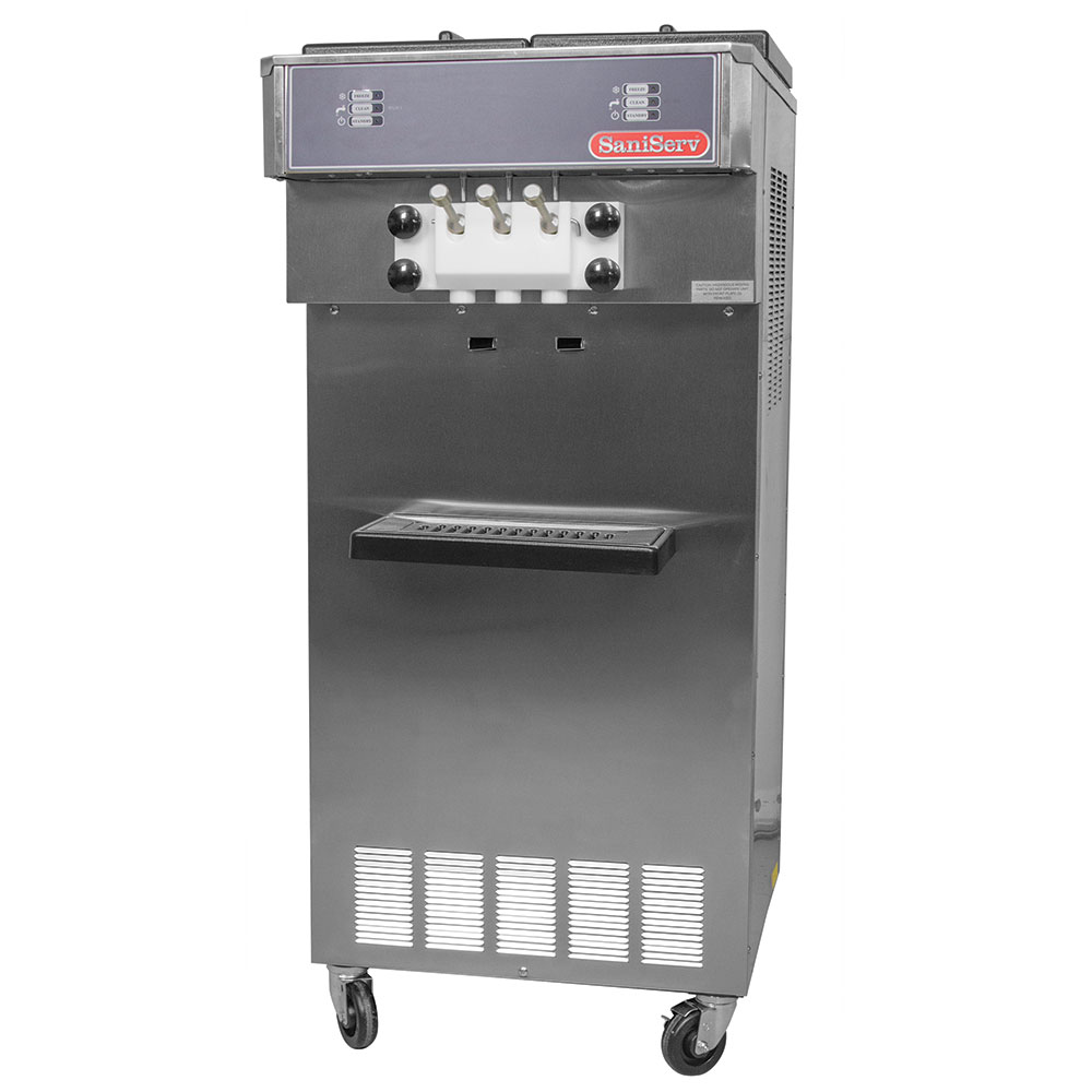 Saniserv 527-SOFTSERVE Floor Model Soft Serve/Yogurt Twist Freezer, 2-Heads, 2-HP, 208-230/60/1