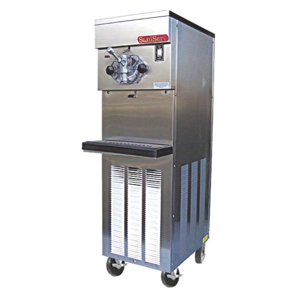 Saniserv 614SAS U 4 Flavor Shake Freezer, 1 Head, 2 HP Compressor, 208-230/60/3, NSF