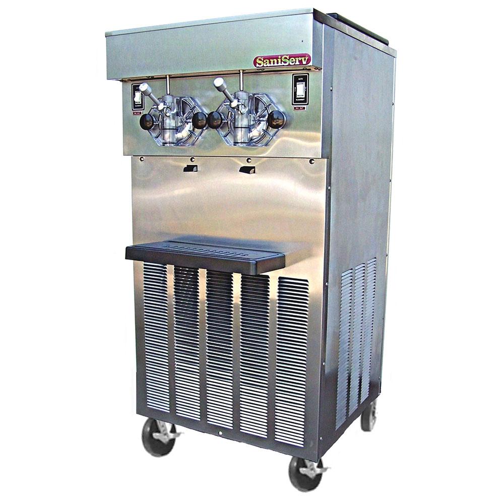 Saniserv 624-SHAKE Floor Model Shake Freezer, 2 Head, 2 HP Compressor, 208-230/60/1, NSF
