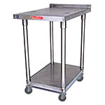 "Saniserv MS163018SX 18"" x 30"" Stationary Equipment Stand for Soft Serve Machines, Undershelf"