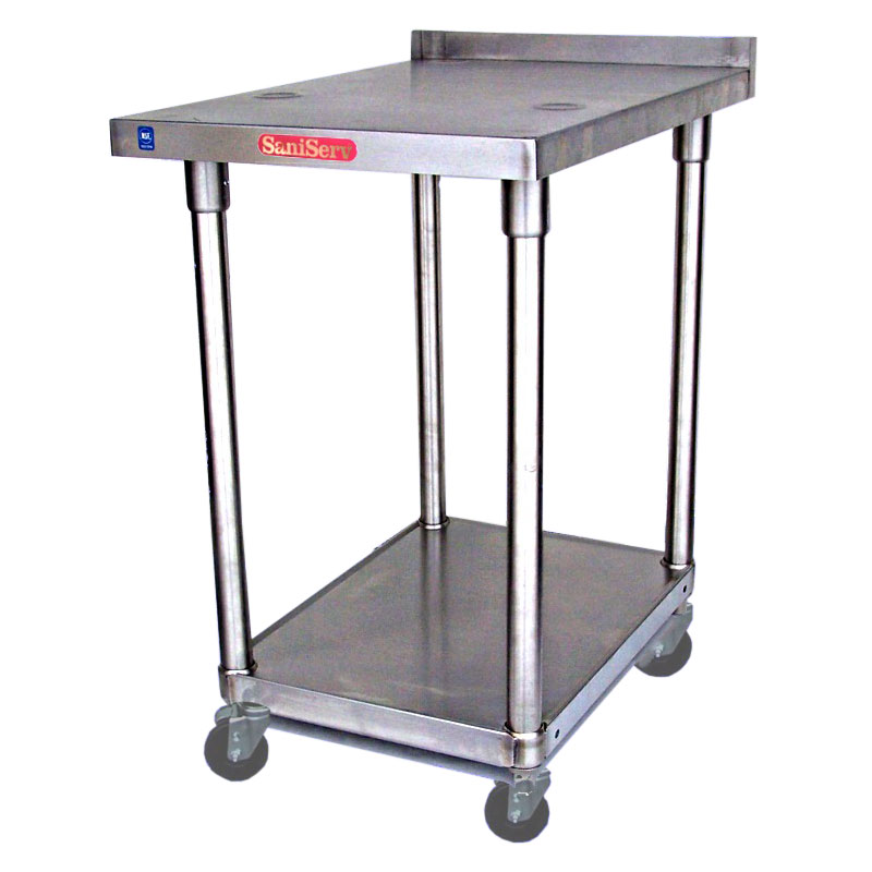 "Saniserv MS163622SX 22"" x 36"" Stationary Equipment Stand for Soft Serve Machines, Undershelf"