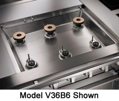 """Viking Commercial V36B4 NG 36"""" 4-Burner Gas Range, NG"""