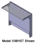 Viking Commercial V102HSS 102-in Half Back Flue Riser w/ Single Solid Shelf, Stainless Flue Cap