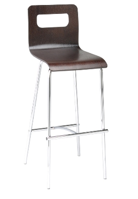 Ergocraft E-16950-CF-COFF 30-in Curve Lightweight Stool w/ Sturdy Design & Silver Frame, Coffee
