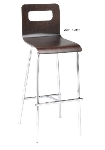 "Ergocraft E-16950-CF-NAT 30"" Curve Lightweight Stool w/ Sturdy Design & Silver Frame, Natural"