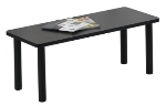 Ergocraft E-18500-TB1-NB Lakeport Reception Coffee Table w/ Durable Laminated Top, Nebula Black