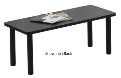 Ergocraft E-18500-TB1-NG Lakeport Reception Coffee Table w/ Durable Laminated Top, Nebula Grey