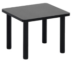 Ergocraft E-18500-TB2-NB Lakeport Reception End Table w/ Durable Laminated Top, Nebula Black