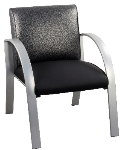 Ergocraft E-18910-SF Symphony Reception Chair w/ Silver Frame & High Density Foam, 28 x 25 x 27-in