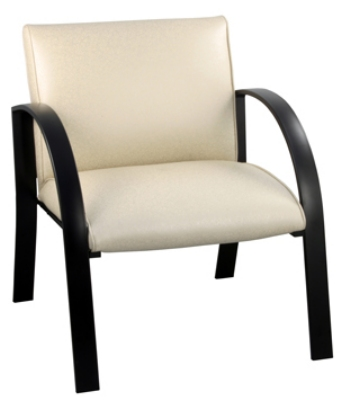 Ergocraft E-18911-BF Symphony Reception Chair w/ Black Frame & High Density Foam, 400-lb Capacity