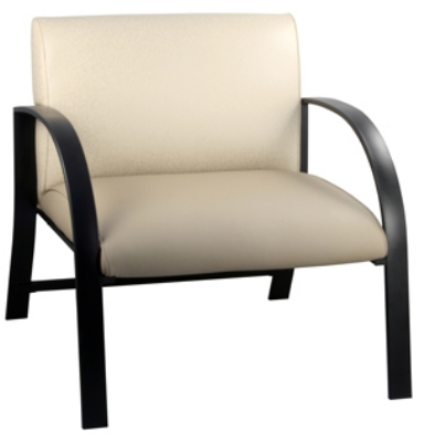 Ergocraft E-18912-BF Symphony Reception Chair w/ Black Frame & High Density Foam, 700-lb Capacity