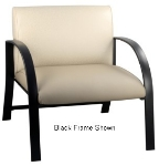 Ergocraft E-18912-SF Symphony Reception Chair w/ Silver Frame & High Density Foam, 700-lb Capacity