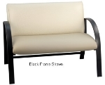 Ergocraft E-18913-SF Symphony Reception Loveseat w/ Silver Frame & High Density Foam, 500-lb Capacity