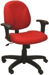 Ergocraft E-21721 Array Office Chair w/ Small Back & 1-Paddle Tilt Lock Control, Te