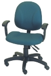 Ergocraft E-21722 Array Office Chair w/ Small Back & 2-Paddle Deluxe V Control, Height Adjust