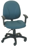 Ergocraft E-21751 Array Office Chair w/ Medium Back & 1-Paddle Task Control, Tension Adjust