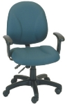 Ergocraft E-21752 Array Office Chair w/ Medium Back & 2-Paddle Deluxe V Control, Height Adjust