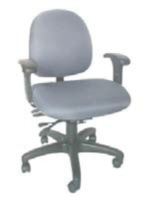 Ergocraft E-31724V Stratus Task Chair w/ Small Back & 4-Paddle Executive Control, Adjustable Seat