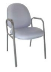 Ergocraft E-31750-4L Stratus Guest Chair w/ Medium Back & Polyurethane Arm Pad, 4-Legs