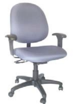 Ergocraft E-31752V Stratus Task Chair w/ Medium Back & 2-Paddle Deluxe V Control, Adjustable Seat