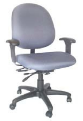 Ergocraft E-31754V Stratus Task Chair w/ Medium Back & 4-Paddle Executive V Control, Tilt Lock