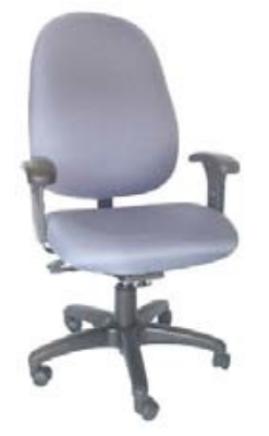 Ergocraft E-31783V Stratus Task Chair w/ High Back & 3-Paddle V Control, Adjustable Seat