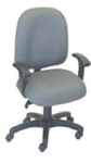 Ergocraft E-50151 Palisades Task Chair w/ Medium Back & 1-Paddle Tilt Lock Control