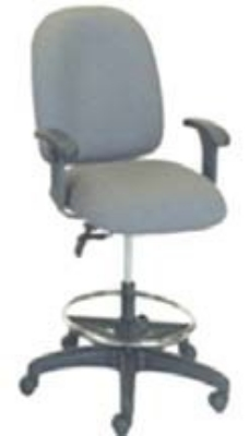 Ergocraft E-50151-ST Palisades Task Chair w/ Medium Back & 2-Paddle Task Control, Stool Conversion