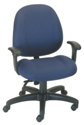 Ergocraft E-52852V Soft Sit Office Chair w/ 2-Paddle Deluxe Control & Medium Back, Adjustable Seat