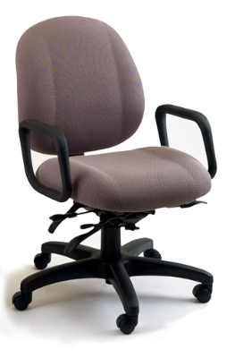 Ergocraft E-52854V Soft Sit Office Chair w/ 4-Paddle Executive Control & Medium Back, Tilt Lock