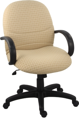Ergocraft E-63151 Rodeo Executive Chair w/ Medium Back & 1-Paddle Control, Tilt Lock