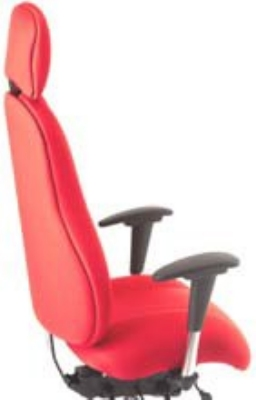 Ergocraft E-85684-BD Atlas Executive Task Chair w/ Headrest & 4-Paddle Control, Adjustable Height