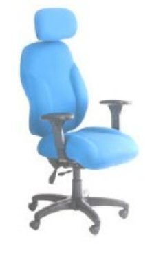 Ergocraft E-89884-BD Phantom Designer Series Chair w/ Headrest & 4-Paddle Control, Waterfall Seat