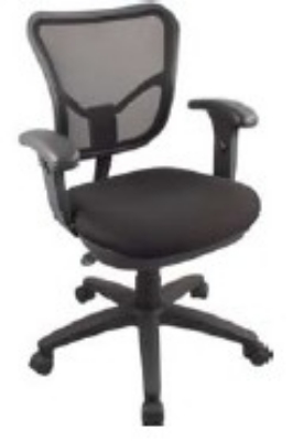 Ergocraft ECO2.5-C3 Eco Series Air Mesh Chair w/ Petite Seat Height & Small Back, Adjustable Seat