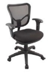 Ergocraft ECO2.5-C5 Eco Series Air Mesh Chair w/ Standard Seat Height & Small Back, Adjustable Seat
