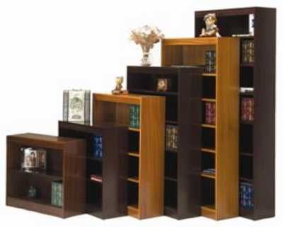 Ergocraft L-13672 72-in Laguna Bookcase w/ 5-Adjustable Shelf, Finished Back Panel
