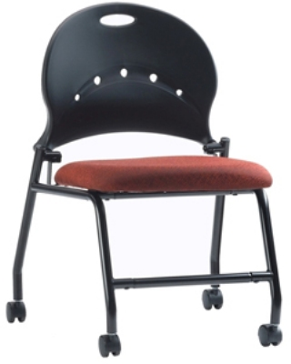 Ergocraft PS-1310 Zappa Nesting Chair w/ Polypropylene Shell & Steel Frame, Flip Seat
