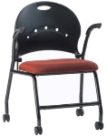 Ergocraft PS-1310A Zappa Nesting Chair w/ Polypropylene Shell & Steel Frame, Flip Seat, Arm Support