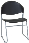 Ergocraft PS-1420 Zazz Stacking Chair w/ Polypropylene Shell & Steel Frame, Stacks 7 High