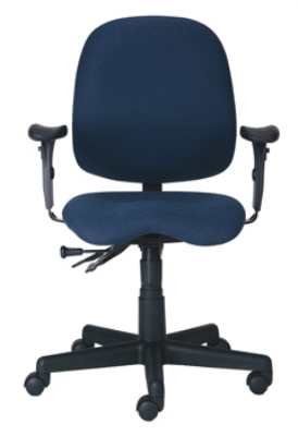 Ergocraft PS-5964-2481 Cameron Task Chair w/ Medium Back & 4-Paddle Executive Control, Lumbar Support