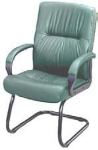 Ergocraft PS-7351G Mayor Leather Guest Chair w/ Medium Back & Cantilever Base, Lumbar Support