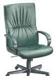 Ergocraft PS-7381 Mayor Leather Executive Chair w/ High Back & Adjustable Height, Lumbar Support