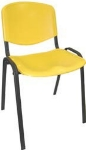 Ergocraft SS-19350 Active Stacker Chair w/ Polypropylene Shell & Steel Frame, Stackable