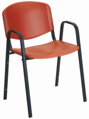 Ergocraft SS-19352 Active Stacker Chair w/ Arms, Polypropylene Shell & Steel Frame, Stackable