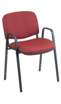 Ergocraft SS-19452 Active Plus Stackable Chair w/ Arms, Sturdy Steel Frame, Stacks 7 High