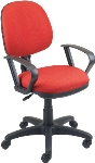 Ergocraft SS-20551 Workmate Task Chair w/ Medium Back, Upholstered, Pneumatic Adjustable Seat